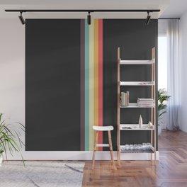 Minimal Classic Rainbow Retro Stripes - Tipua Wall Mural