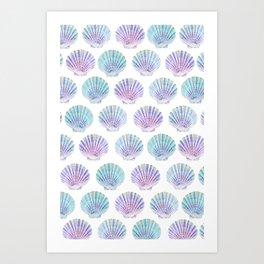 iridescent shells pattern Art Print