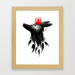 Shadow prince Framed Art Print