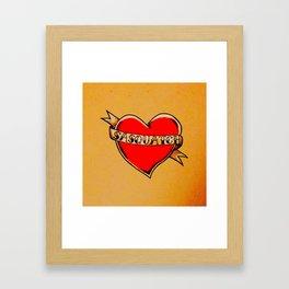 My Heart Belongs to Sasquatch Framed Art Print