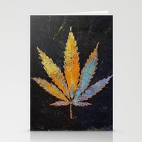 cannabis Stationery Cards featuring Cannabis by Michael Creese