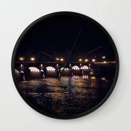 Bridge in the night Wall Clock