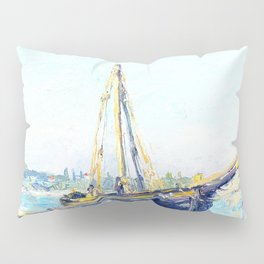 Boat on a beach Pillow Sham