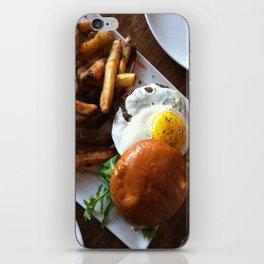 Egg burger iPhone Skin
