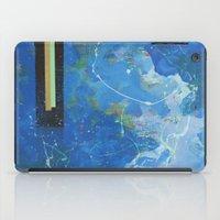 bar iPad Cases featuring Gold Bar Green Bar by DANiELLE