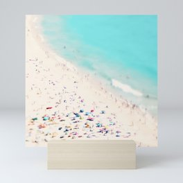 beach love III square Mini Art Print