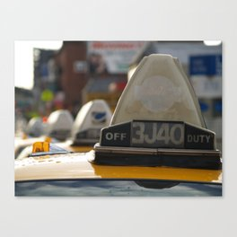 Brooklyn: Taxi Cab Canvas Print