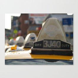Brooklyn: Taxi Cab Canvas Print