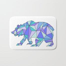 Geometric Cali Bear Bath Mat