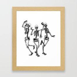 Three Dancing Skulls Framed Art Print