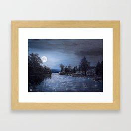 Full Moon - Acrylic Framed Art Print