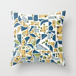 Connection Doodle Throw Pillow