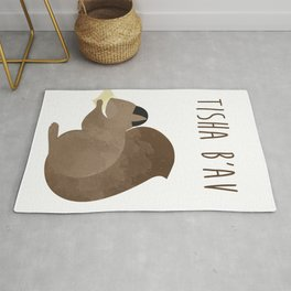 Tisha B'av Squirrel and Book of Lamentations Rug