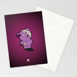 Purple Dead Bear Stationery Cards