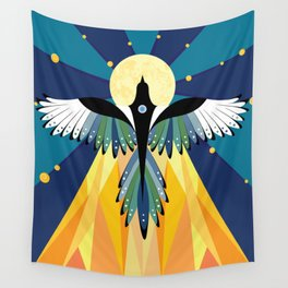 Moon of the Magpie Wall Tapestry