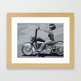Mike Bell: Of Gals & Monsters Framed Art Print