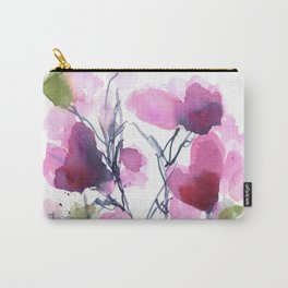 Pink Heart Petals Carry-All Pouch