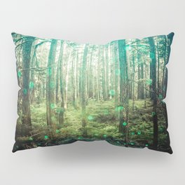Magical Green Forest - Nature Photography Pillow Sham