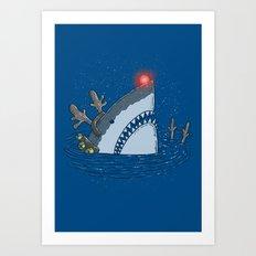 Rudolph Shark Art Print