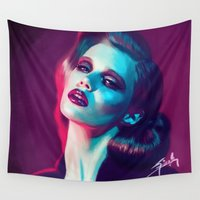 lynch Wall Tapestries featuring Colorful by Yasin IŞIK