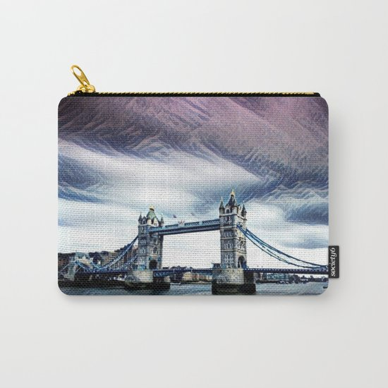 The Glorious London Bridge (Sunset & River) Carry-All Pouch