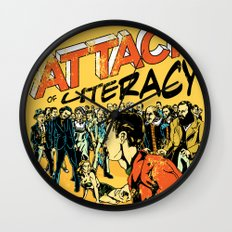 Attack of Literacy Wall Clock