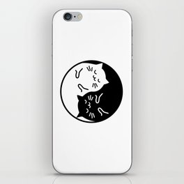 Cute cats Yin Yang sign iPhone Skin