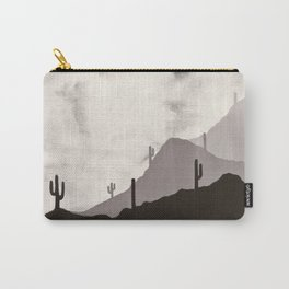 Arizona Desert Cactus Mountain Landscape Carry-All Pouch