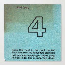 Ilium Public Library Card No. 4 Canvas Print