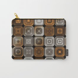 Geometric chocolate pattern Carry-All Pouch