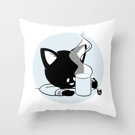 Morning Cat Throw Pillow