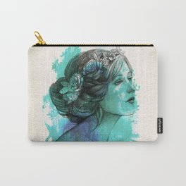 face beautiful girl drawe splash Carry-All Pouch