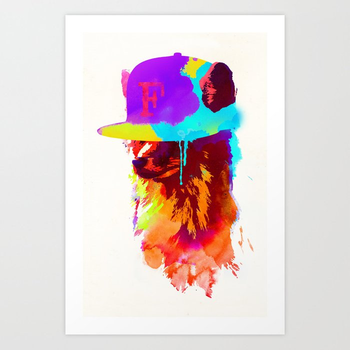 Discover the motif FOXEY'S FAVORITE CAP by Robert Farkas as a print at TOPPOSTER