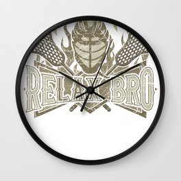 ReLAX Bro Lacrosse Lover Lacrosse Player Wall Clock