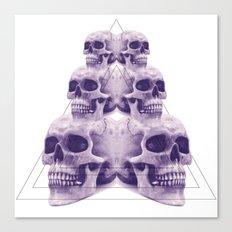 ☠ 6 skulls ☠ Canvas Print