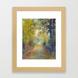 "Auguste Renoir  ""In the Woods"" Framed Art Print"
