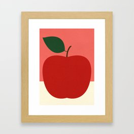 Rosi Feist – Red Apple Framed Art Print