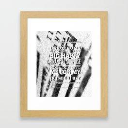 Money prosperity Framed Art Print