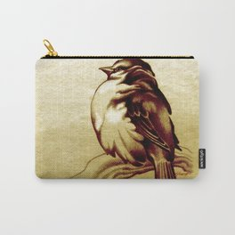 Sparrow in the Cold Carry-All Pouch