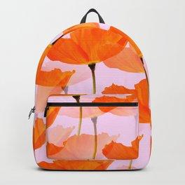 Orange Poppies On A Pink Background #decor #society6 #buyart Backpack