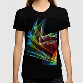 Dancing Northern Lights, Abstract Summer Sky T-shirt