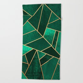 Emerald and Copper Beach Towel