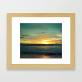 Kuta Bali Beach Sunset Framed Art Print