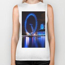 London Eye at Night Biker Tank