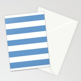 Livid - solid color - white stripes pattern Stationery Cards