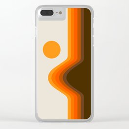 Golden Horizon Diptych - Left Side Clear iPhone Case