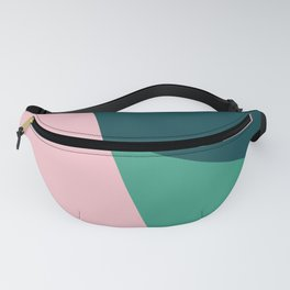 Geometric design in pink & green Fanny Pack
