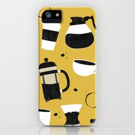 Do you even coffee? (mustard) iPhone Case