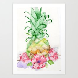Hawaiian Pineapple Art Print
