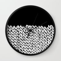 knit Wall Clocks featuring Half Knit by Project M